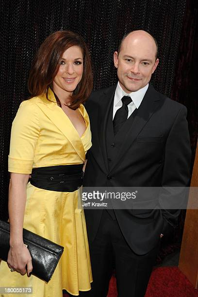Actor Rob Corddry and his wife Sandra arrive at the 15th Annual Critics' Choice Movie Awards held at the Hollywood Palladium on January 15 2010 in...