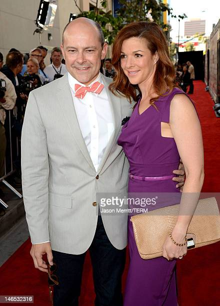 Actor Rob Corddry and Sandra Corddry arrive at the premiere of Seeking a Friend for the End of the World at the 2012 Los Angeles Film Festival held...