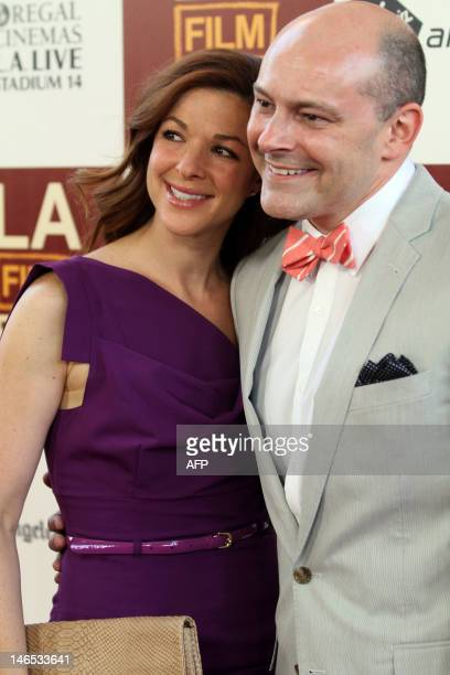 Actor Rob Corddry and Sandra Corddry arrive for the premiere of Seeking A Friend For The End Of The World June 18 2012 in Los Angeles California AFP...