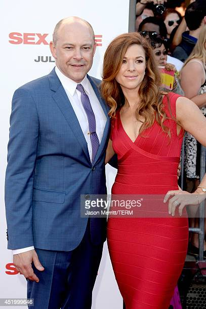 Actor Rob Corddry and Sandra Corddry attend premiere of Columbia Pictures' Sex Tape at Regency Village Theatre on July 10 2014 in Westwood California