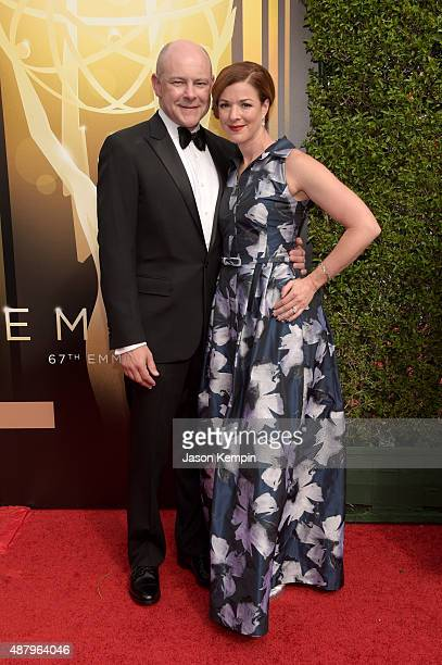 Actor Rob Corddry and Sandra Corddry attend the 2015 Creative Arts Emmy Awards at Microsoft Theater on September 12 2015 in Los Angeles California
