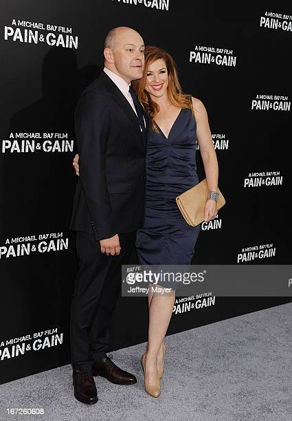 Actor Rob Corddry and Sandra Corddry attend the 'Pain Gain' premiere held at TCL Chinese Theatre on April 22 2013 in Hollywood California