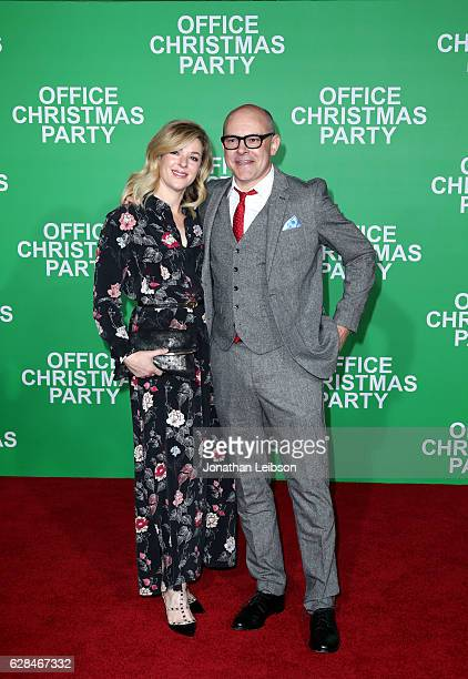 Actor Rob Corddry and Sandra Corddry attend the LA Premiere of Paramount Pictures Office Christmas Party at Regency Village Theatre on December 7...