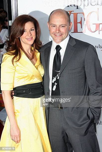 Actor Rob Corddry and wife Sandra arrive for the premiere of What Happens In Vegas at the Mann Village Theater in Los Angeles California on May 1...