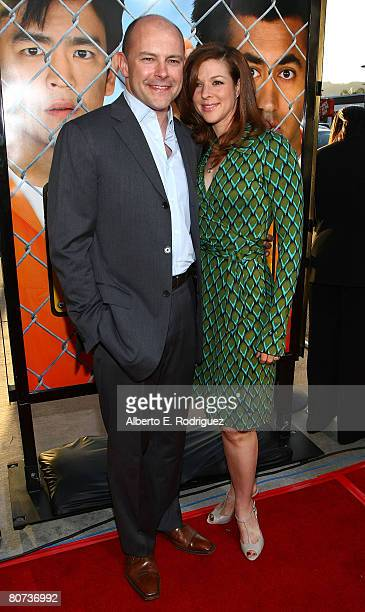 Actor Rob Corddry and wife Sandra Corddry arrive at New Line Cinema's premiere of Harold Kumar Escape from Guantanamo Bay held at the Cinerama Dome...