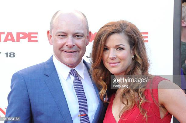 Actor Rob Corddry and wife Sandra Corddry arrive at the Los Angeles Premiere 'Sex Tape' on July 10 2014 at Regency Village Theatre in Westwood...