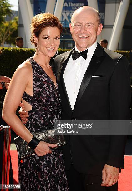 Actor Rob Corddry and wife Sandra Corddry attend the 2013 Creative Arts Emmy Awards at Nokia Theatre LA Live on September 15 2013 in Los Angeles...