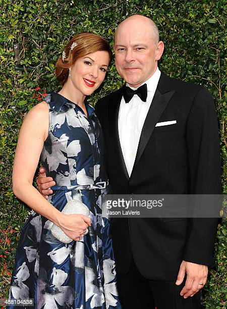 Actor Rob Corddry and wife Sandra Corddry attend the 2015 Creative Arts Emmy Awards at Microsoft Theater on September 12 2015 in Los Angeles...
