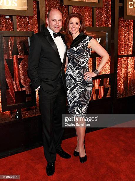 Actor Rob Corddry and wife Sandra Corddry attend the First Annual Comedy Awards at Hammerstein Ballroom on March 26 2011 in New York City