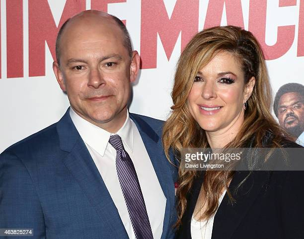 Actor Rob Corddry and wife Sandra Corddry attend the premiere of Paramount Pictures' Hot Tub Time Machine 2 at the Regency Village Theatre on...