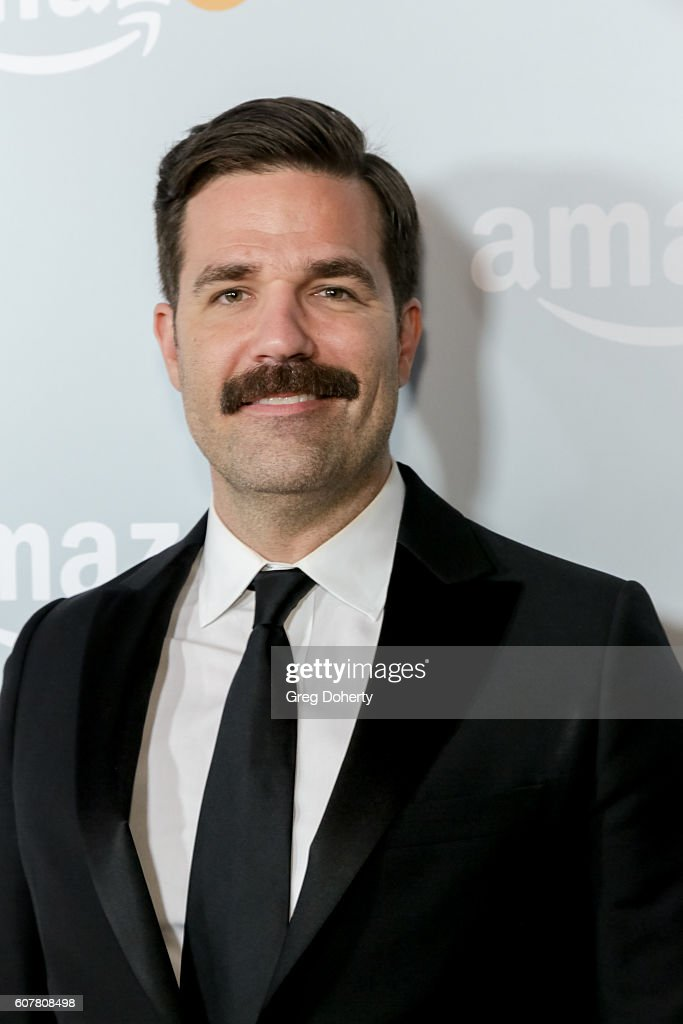 Actor Rob Delaney arrives at the Amazon's Emmy Celebration at the Sunset Tower Hotel on September 18, 2016 in West Hollywood, California.