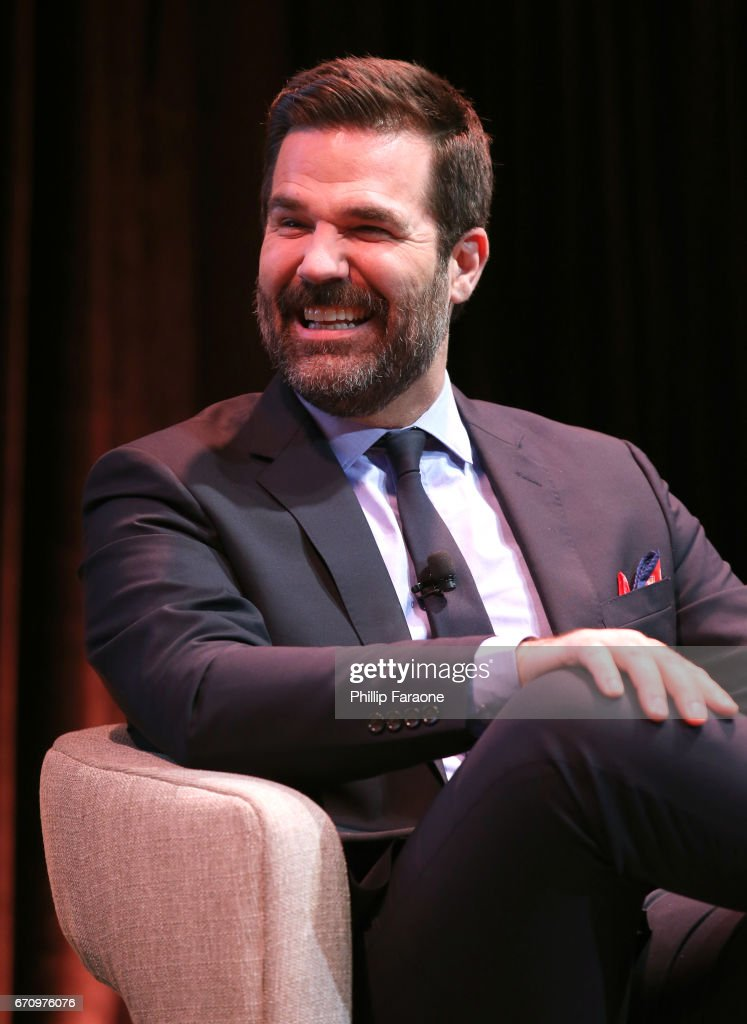 Actor Rob Delaney speaks onstage at the Amazon Studios Emmy For Your Consideration Event at Hollywood Athletic Club on April 20, 2017 in Hollywood, California.