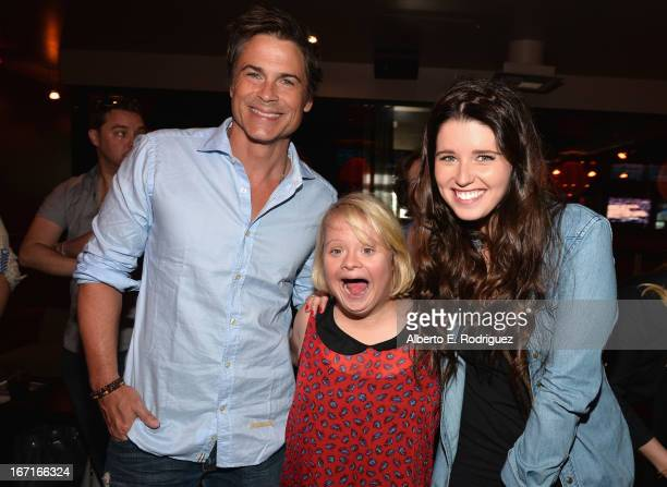 Actor Rob Lowe, actress Lauren Potter and author Katherine Schwarzenegger attend the Best Buddies' Bowling For Buddies Event at Lucky Strike Lanes at...