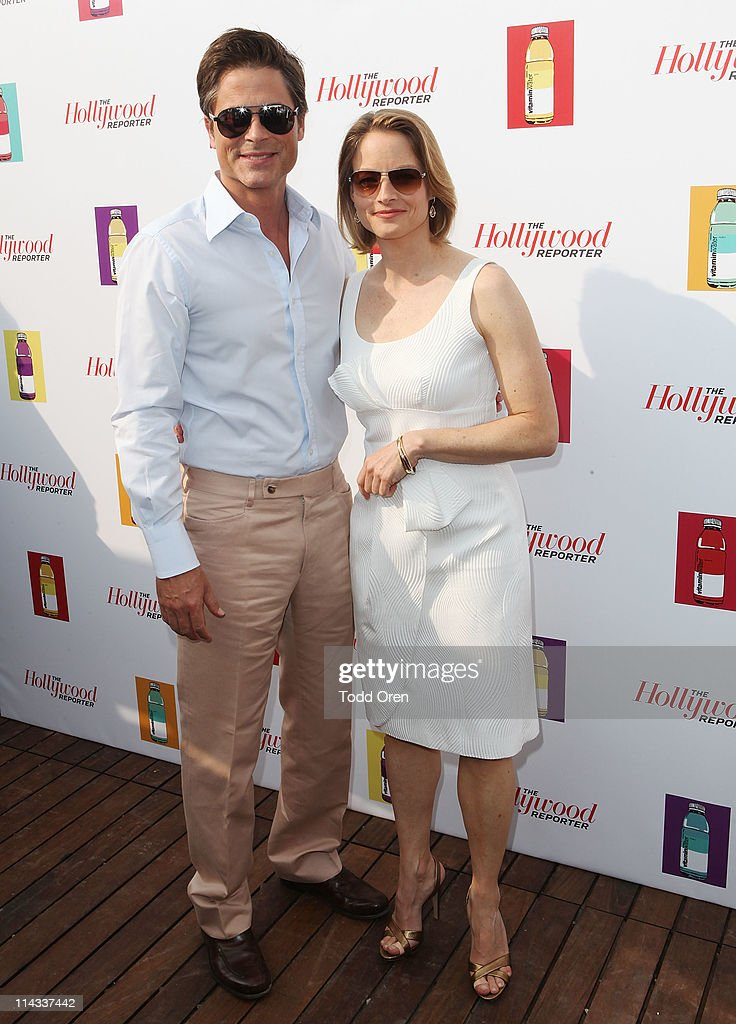 Actor Rob Lowe and actress Jodie Foster attend the Hollywood Reporter honors Jodi Foster for 'The Beaver' hosted by vitaminwater at Z Plage vitaminwater on May 18, 2011 in Cannes, France.