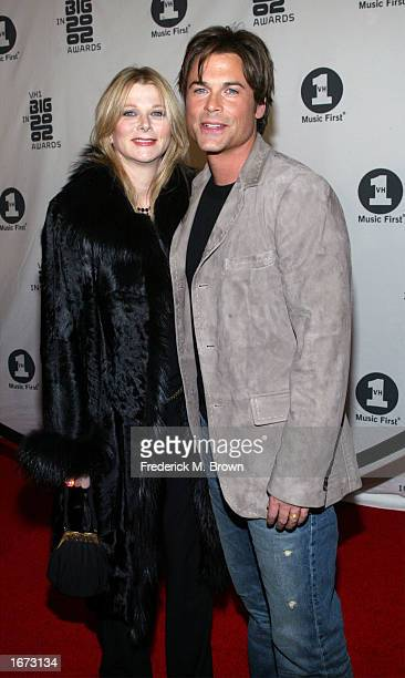 Actor Rob Lowe and his wife Sheryl attend the VH1 Big In 2002 Awards at the Olympic Stadium on December 4 2002 in Los Angeles California