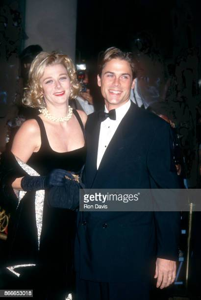 Actor Rob Lowe and his wife Sheryl Berkoff attend the 1992 Carousel of Hope Ball to Benefit the Barbara Davis Center for Childhood Diabetes on...
