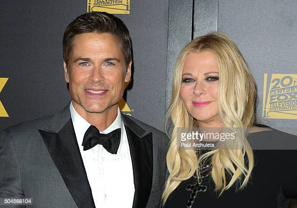 Actor Rob Lowe and his Wife Sheryl Berkoff attend the Fox and FX's 2016 Golden Globe Awards Party on January 10 2016 in Beverly Hills California