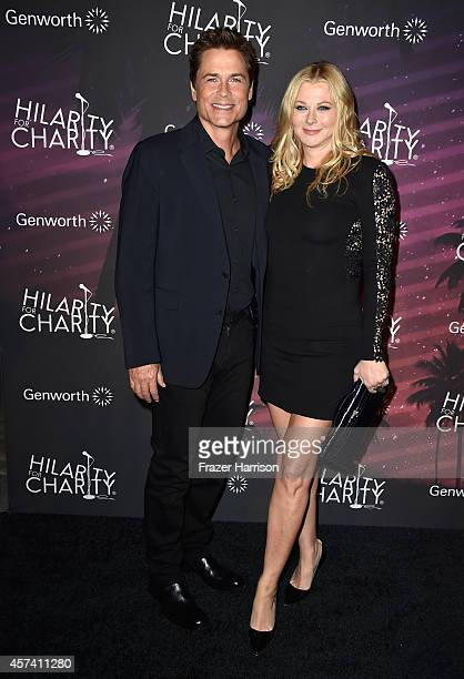 Actor Rob Lowe and Sheryl Berkoff arrives at the 3rd Annual Los Angeles Hilarity for Charity Variety Show at Hollywood Palladium on October 17 2014...