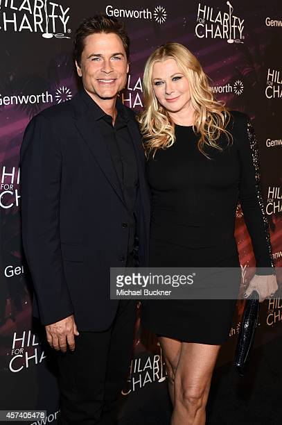 Actor Rob Lowe and Sheryl Berkoff attends the 3rd Annual Hilarity for Charity Variety Show to benefit the Alzheimer's Association presented by...