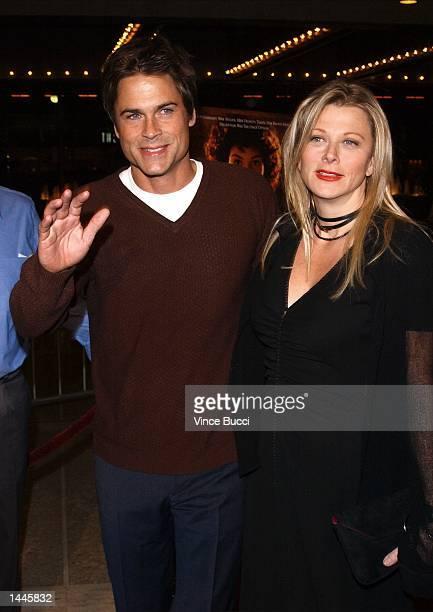 Actor Rob Lowe and wife Cheryl attend the premiere of the film The Affair of the Necklace November 20 2001 in Los Angeles CA