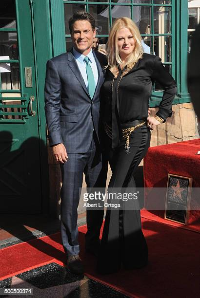 Actor Rob Lowe and wife Cheryl Berkoff at Rob Lowe's Star ceremony on the Hollywood Walk Of Fame held on December 8 2015 in Hollywood California