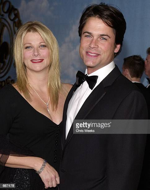 Actor Rob Lowe and wife Shelly arrive at The Carousel of Hope Ball benefiting The Barbara Davis Center for Childhood Diabetes October 28 2000 at the...