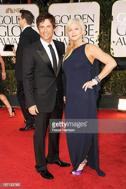 Actor Rob Lowe and wife Sheryl Berkoff arrive at the 69th Annual Golden Globe Awards held at the Beverly Hilton Hotel on January 15 2012 in Beverly...