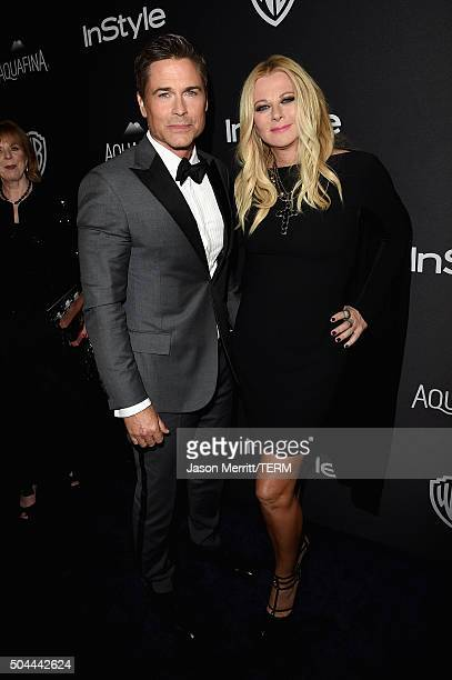 Actor Rob Lowe and wife Sheryl Berkoff attend The 2016 InStyle And Warner Bros 73rd Annual Golden Globe Awards PostParty at The Beverly Hilton Hotel...