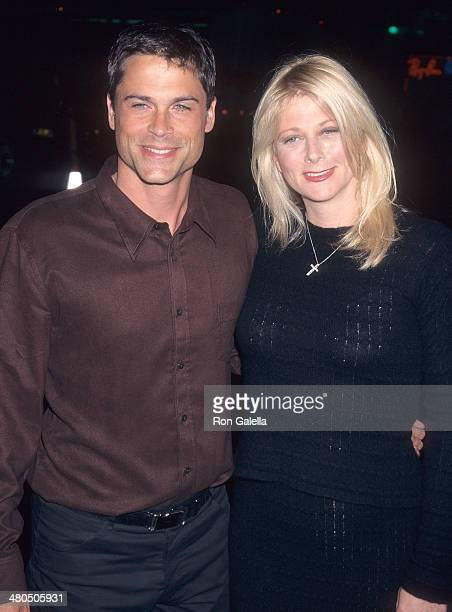Actor Rob Lowe and wife Sheryl Berkoff attend the LA Confidential Hollywood Premiere on September 16 1997 at the Mann's Chinese Theatre in Hollywood...
