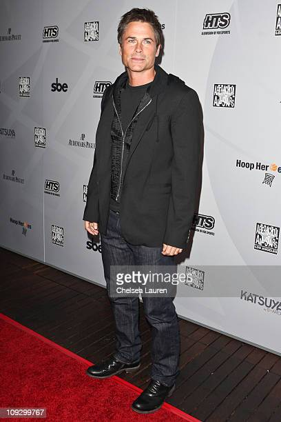 Actor Rob Lowe arrives at AfterSchool AllStars Hoop Heroes Salute launch party at Katsuya on February 18 2011 in Los Angeles California