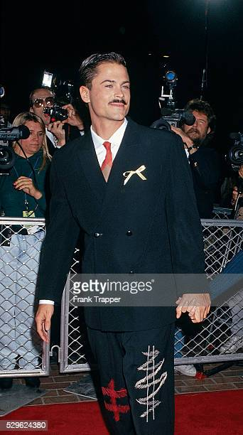 Actor Rob Lowe arrives at the 1st Annual Movie Awards This photo appears on page 103 in Frank Trapper's RED CARPET book