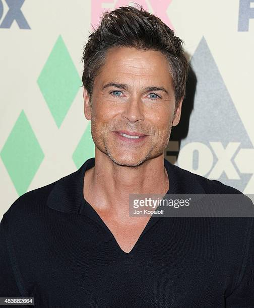 Actor Rob Lowe arrives at the 2015 Summer TCA Tour FOX AllStar Party at Soho House on August 6 2015 in West Hollywood California