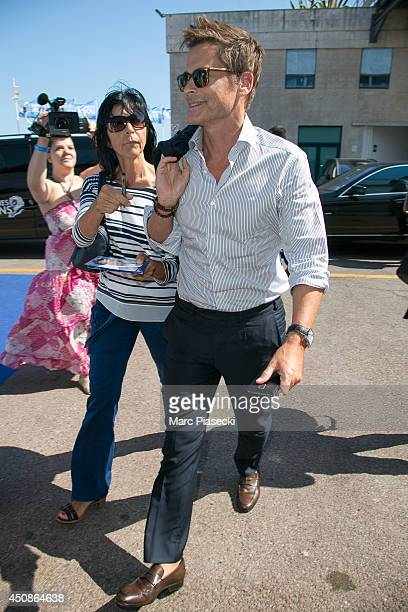 Actor Rob Lowe arrives at the 'Palais des Festivals' on June 19 2014 in Cannes France