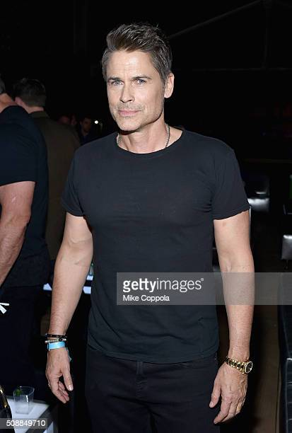 Actor Rob Lowe attends the DirecTV Super Saturday Night cohosted by Mark Cuban's AXS TV at Pier 70 on February 6 2016 in San Francisco California