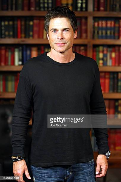 Actor Rob Lowe attends the I Melt With You Press Junket At Bing Bar on January 26 2011 in Park City Utah