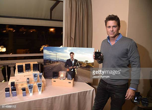 Actor Rob Lowe attends the launch of 18 Amber Wood by Profile at Montage Beverly Hills on March 9 2016 in Beverly Hills California