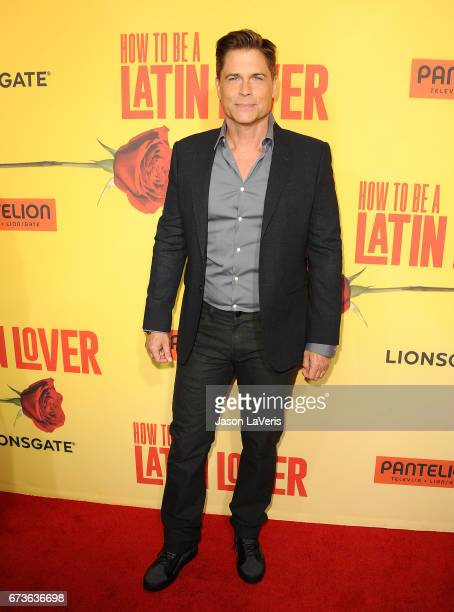 Actor Rob Lowe attends the premiere of 'How to Be a Latin Lover' at ArcLight Cinemas Cinerama Dome on April 26 2017 in Hollywood California