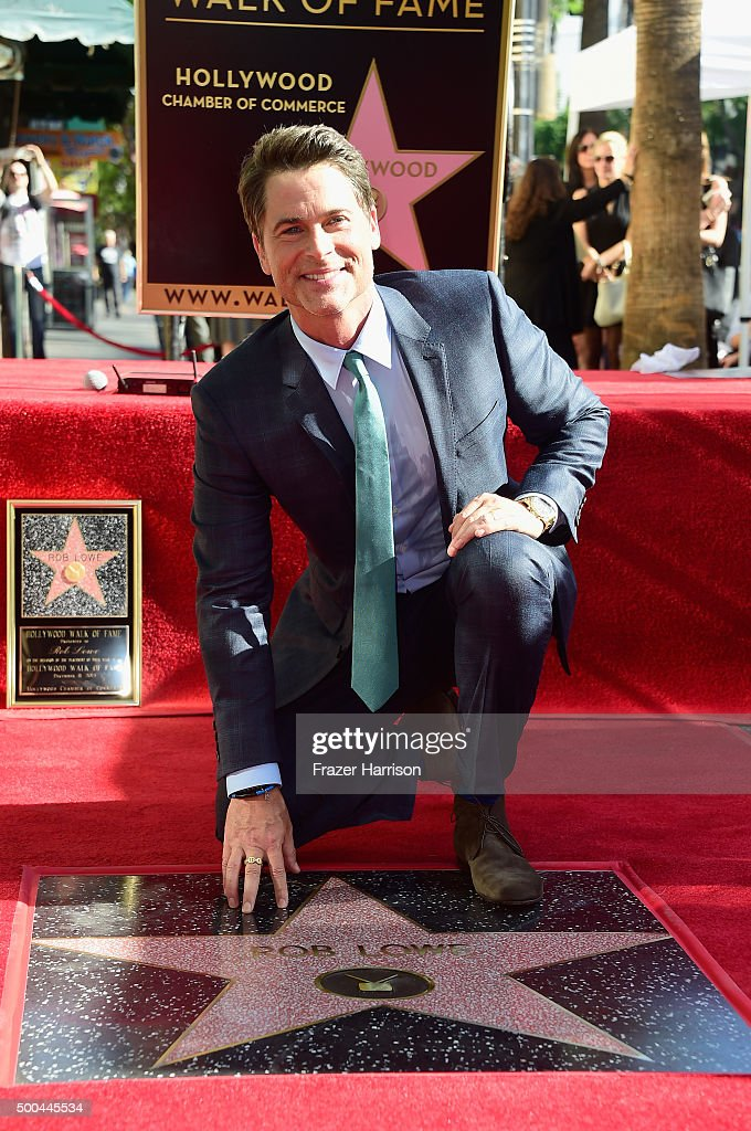 Rob Lowe Honored With Star On The Hollywood Walk Of Fame