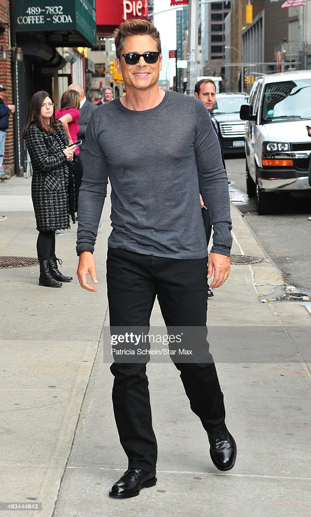 Actor Rob Lowe is seen on April 8, 2014 in New York City.