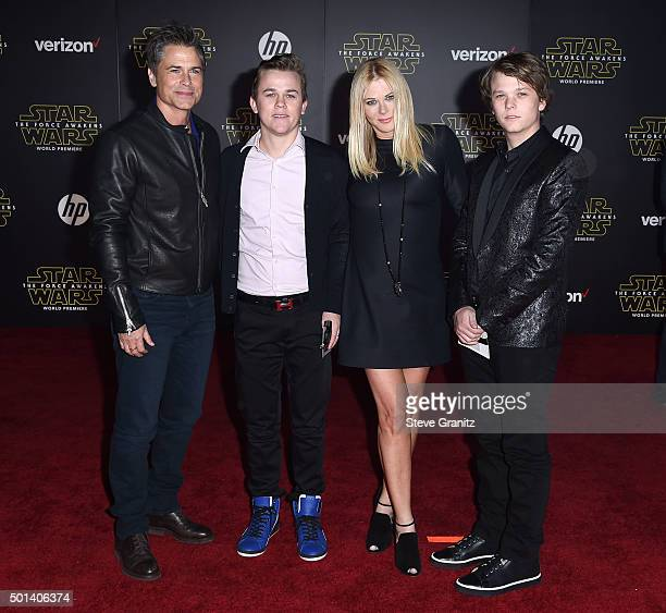 Actor Rob Lowe John Owen Lowe Sheryl Berkoff and Matthew Edward Lowe arrives at the Premiere Of Walt Disney Pictures And Lucasfilm's 'Star Wars The...