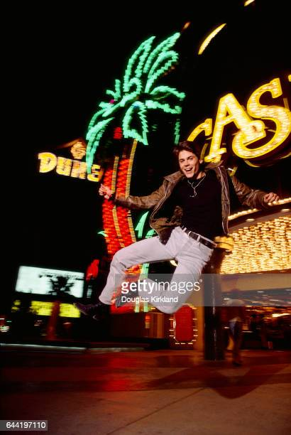 Actor Rob Lowe Jumping