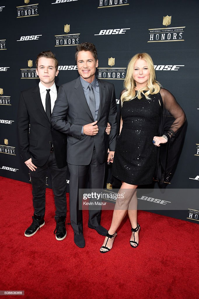 Actor Rob Lowe (C) with John Lowe and Sheryl Berkoff attend the 5th annual NFL Honors at Bill Graham Civic Auditorium on February 6, 2016 in San Francisco, California.