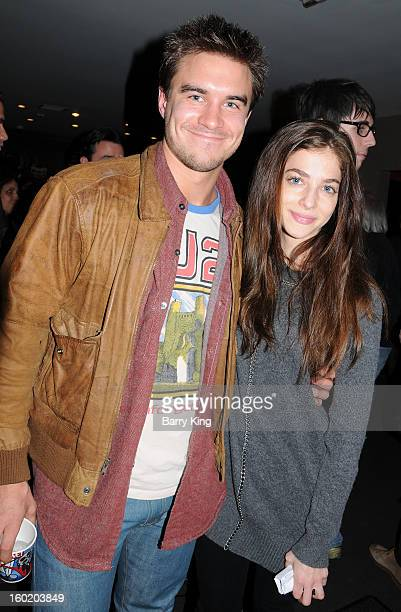 Actor Rob Mayes and actress Allison Weissman attend 'John Dies At The End' special screening and QA at Nuart Theatre on January 25 2013 in West Los...