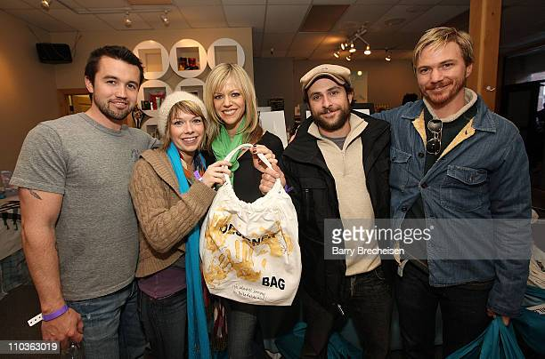 Actor Rob McElhenney actress Mary Elizabeth Ellis actress Kaitlin Olson actor Charlie Day and actor Cy Carter at the Kari Feinstein Sundance Style...