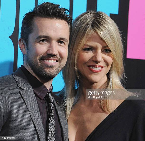Actor Rob McElhenney and actress Kaitlin Olson arrive at the Los Angeles Premiere 'Horrible Bosses 2' at TCL Chinese Theatre on November 20 2014 in...