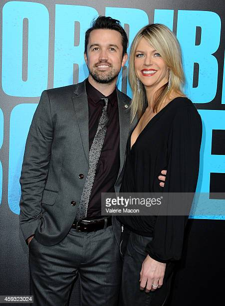 Actor Rob McElhenney and actress Kaitlin Olson attend the premiere of New Line Cinema's 'Horrible Bosses 2' at TCL Chinese Theatre on November 20...