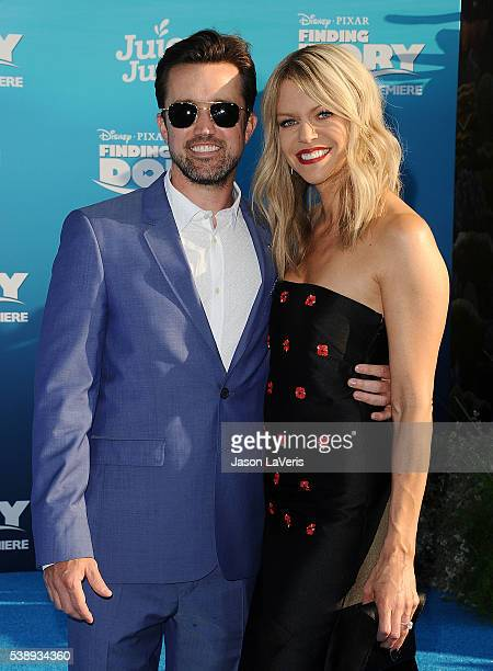 Actor Rob McElhenney and actress Kaitlin Olson attend the premiere of 'Finding Dory' at the El Capitan Theatre on June 8 2016 in Hollywood California