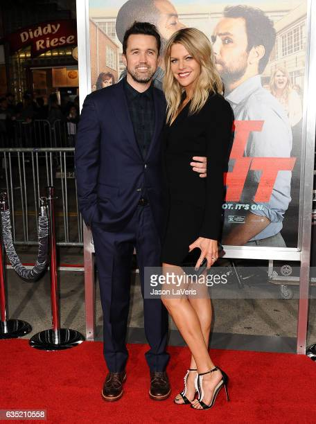 Actor Rob McElhenney and actress Kaitlin Olson attend the premiere of Fist Fight at Regency Village Theatre on February 13 2017 in Westwood California