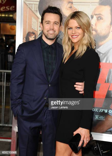 Actor Rob McElhenney and actress Kaitlin Olson attend the premiere of 'Fist Fight' at Regency Village Theatre on February 13 2017 in Westwood...