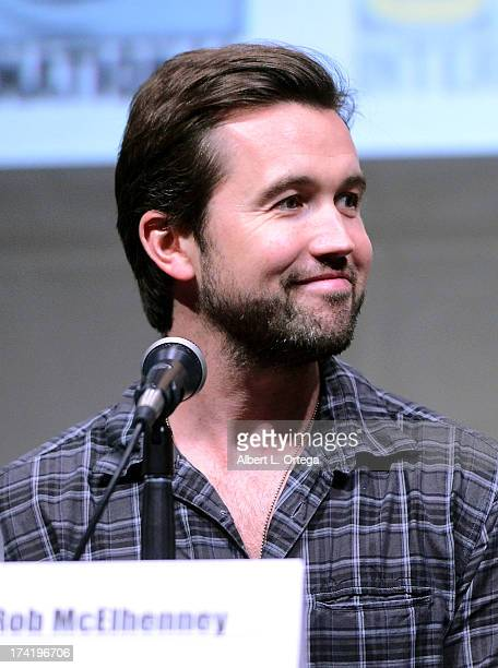 Actor Rob McElhenney speaks onstage at the It's Always Sunny In Philadelphia screening and QA during ComicCon International 2013 at San Diego...